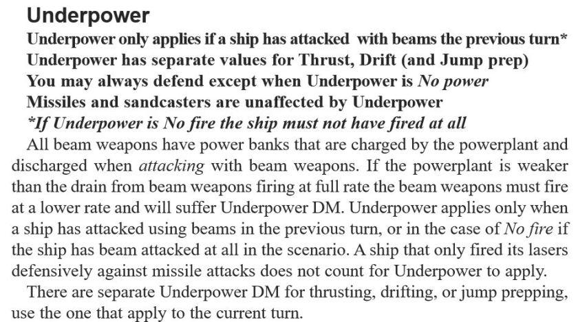 Underpower text